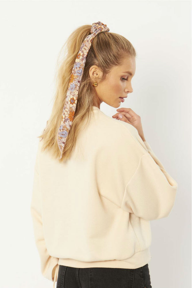 WHY KNOT SCRUNCHIE WOVEN SCARF