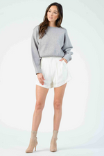 Lucca - Cuvee Cuffed Shorts - White