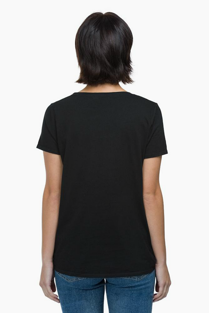 Richer Poorer - Scoop V Tee - Black - Back