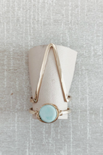 Mint Jewelry - Peruvian Blue Opal Stacker