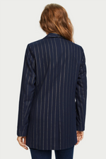 Scotch & Soda - Shiny Pinstripe Blazer - Navy