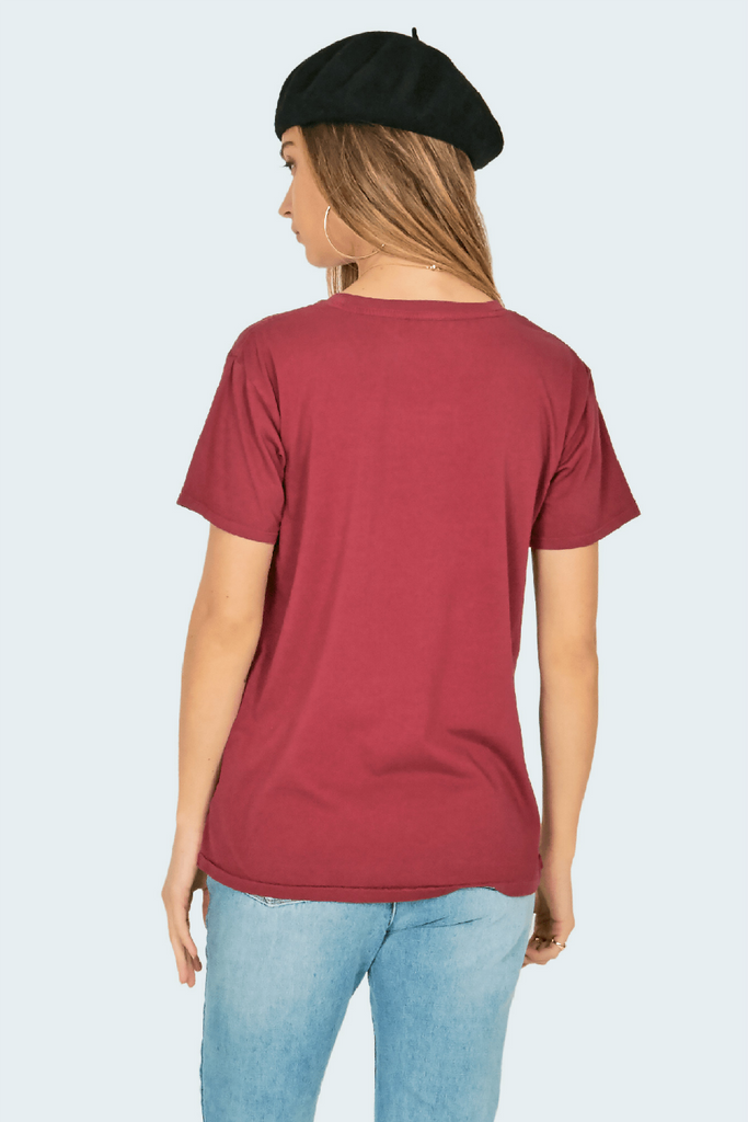 Amuse Society - Fearlessly Femme Tee - Port - Back