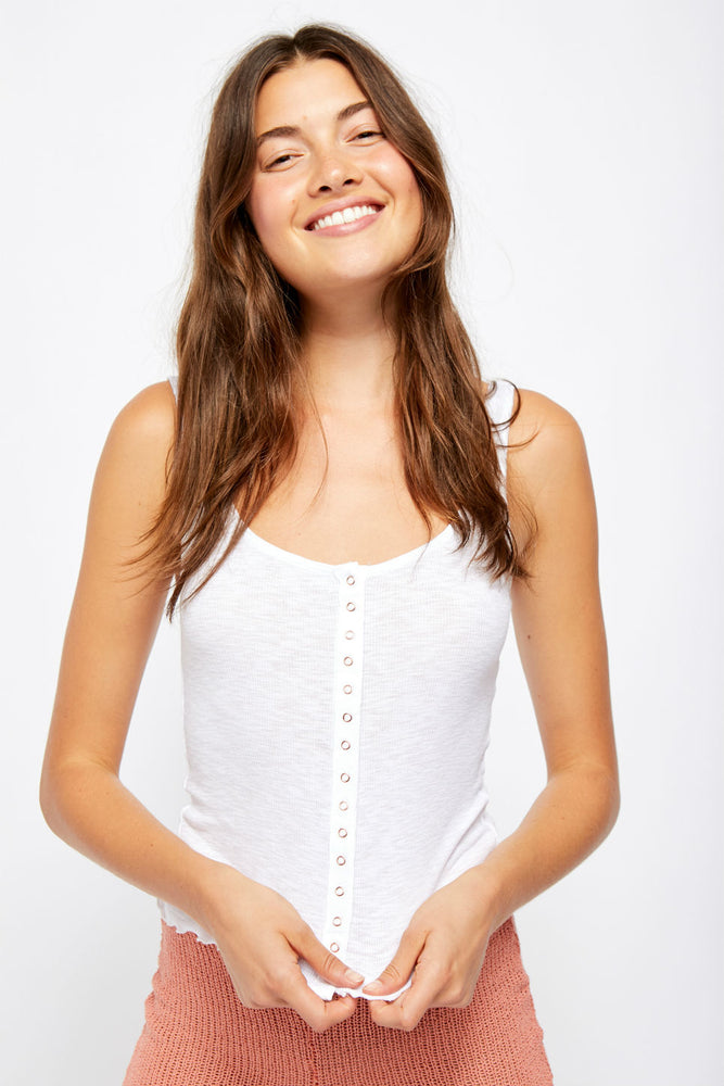 Free People - Tellin Me Tank - White - Front