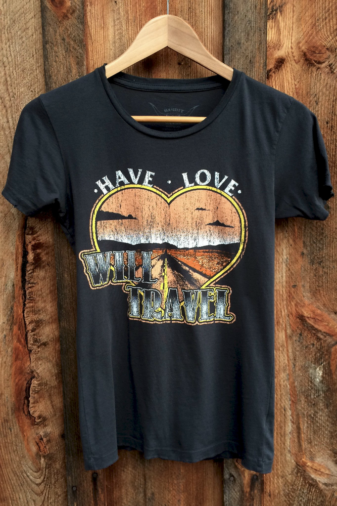 Bandit Brand - Have Love Will Travel Tee - Black