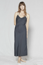 Outerknown - Aura Slip Dress - Pitch Black - Front