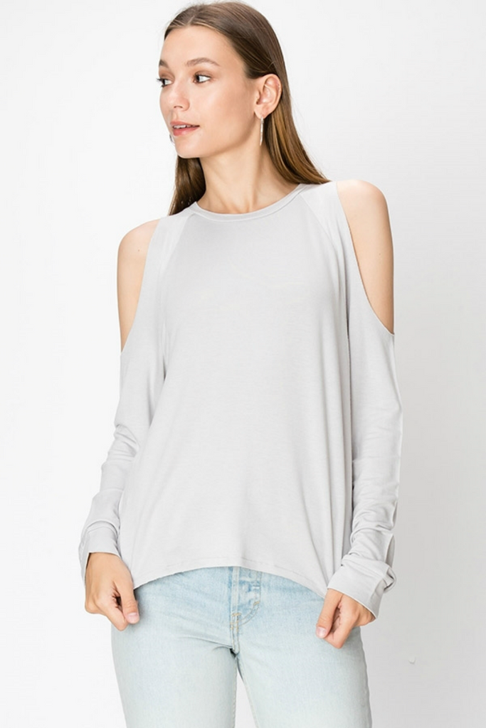 Double Zero - Carol Cold Shoulder - Cloud - Front