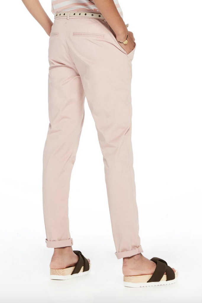 Scotch and Soda - Belted Slim Fit Chinos - Blush - Back