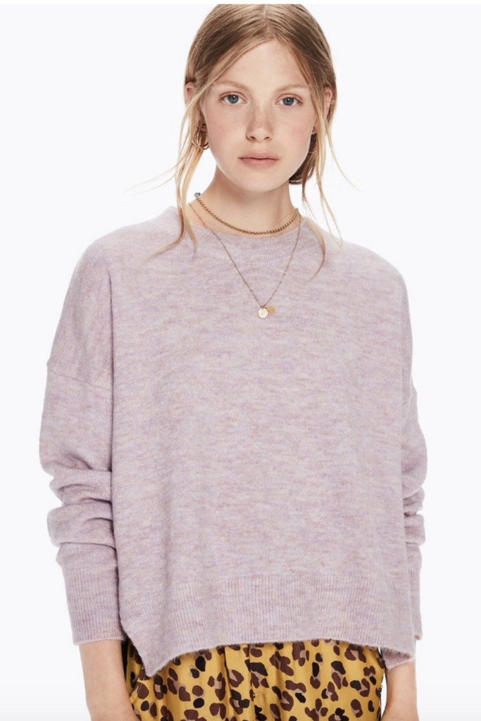 Scotch and Soda - Basic Crew Neck - Lilac - Front