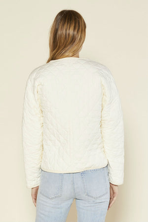 Outerknown - Honeycomb Quilted Jacket - Salt - Back
