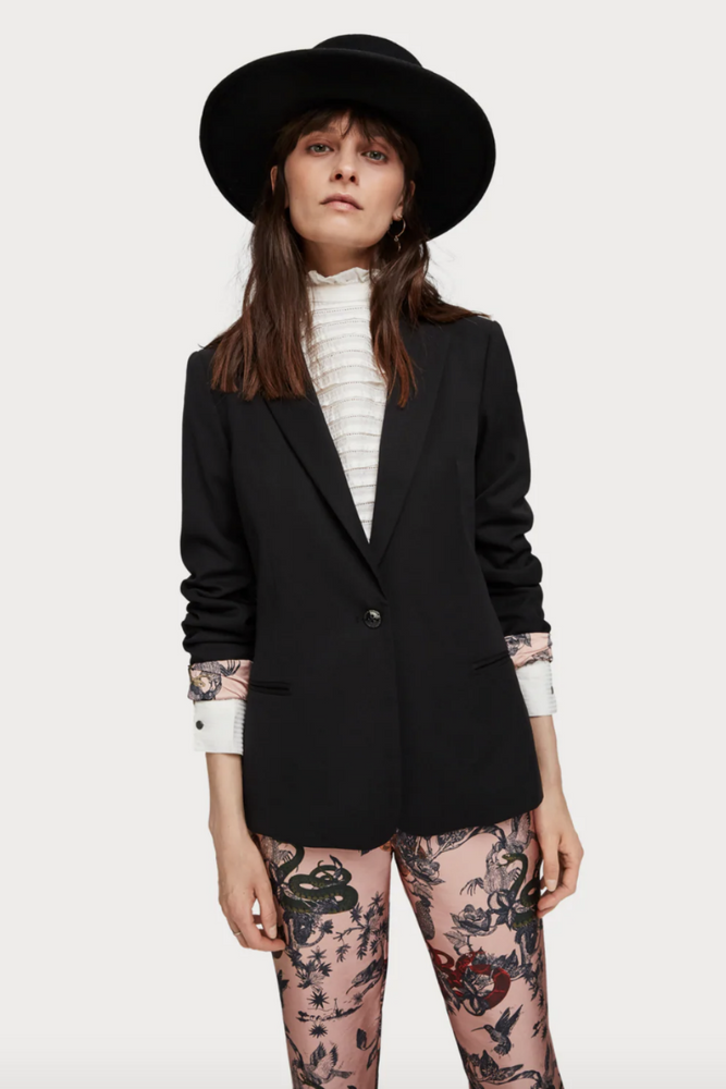 Scotch & Soda - Classic Tailored Blazer - Black - Back