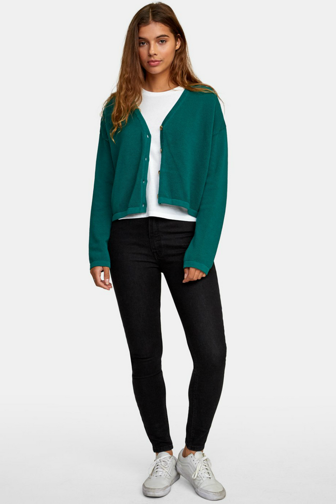 RVCA - Authority Cardigan - Evergreen