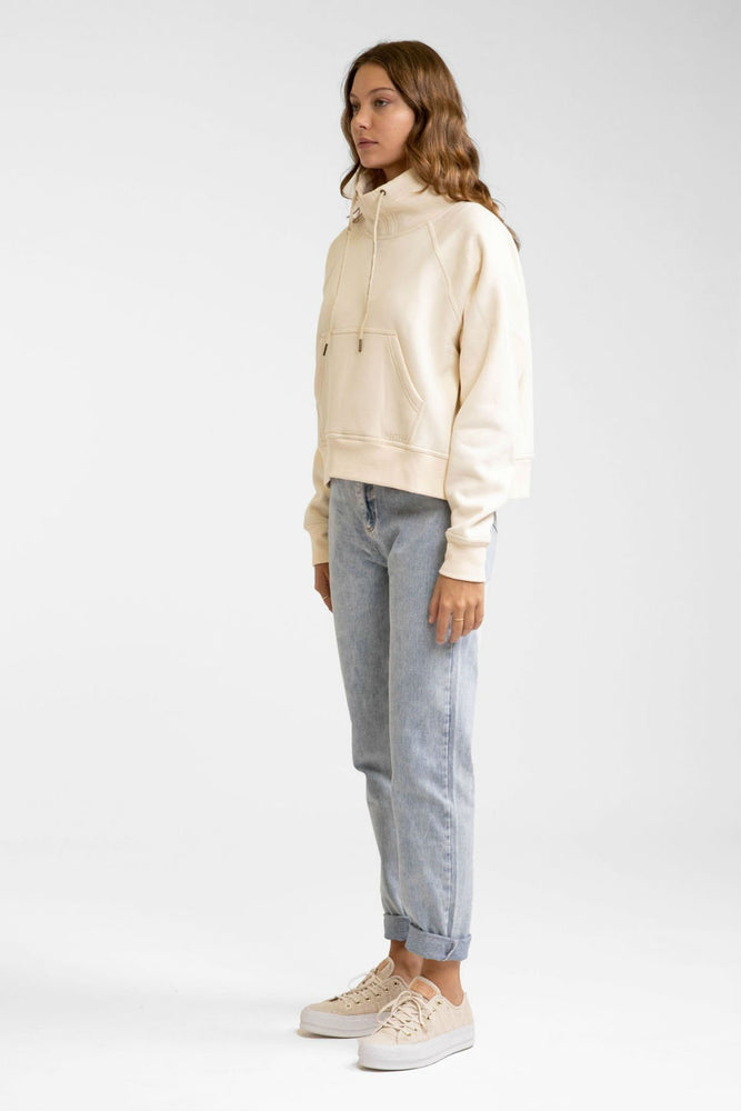 Rhythm - Funnel Neck Fleece - Off White