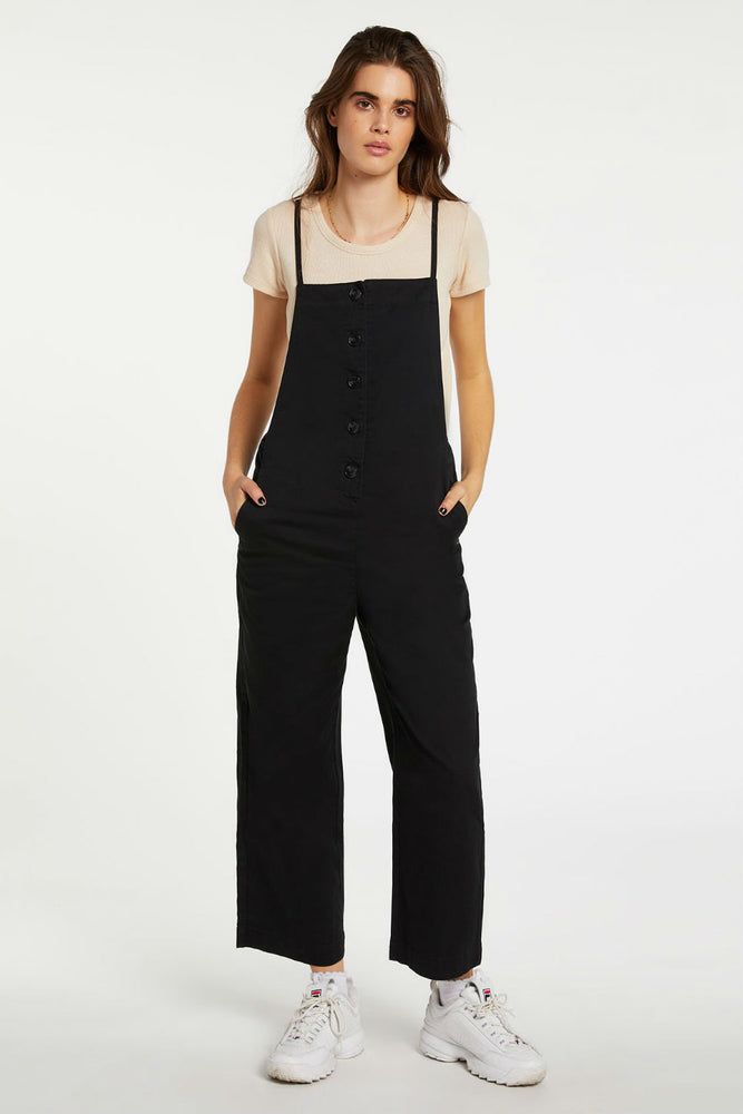 Volcom - Twill Do Romper - Black Out - Front