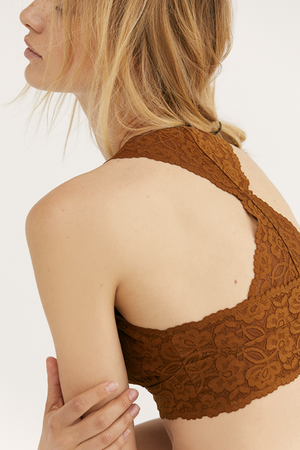 Free People - Galloon Lace Racerback - Brown - Back