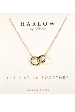 Nashelle - Harlow Box Collection - Interlocking Circle - Gold Plated