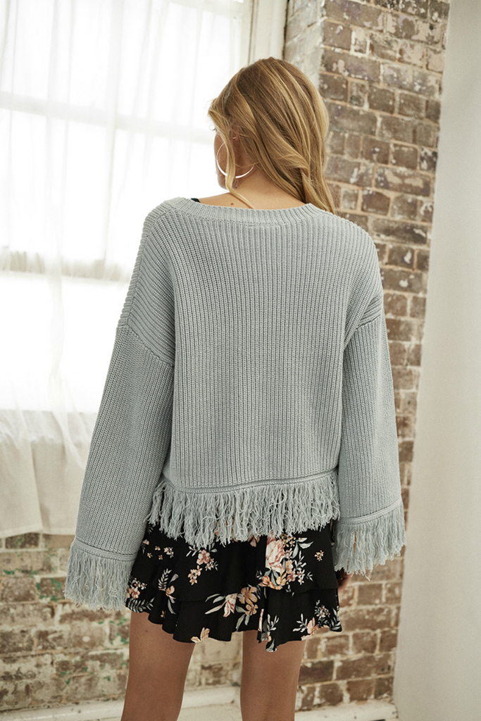 Somedays Lovin - Be Free Knit Jumper - Duckegg - Back