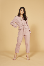 MinkPink - Work It Boiler Suit - Pink - Front