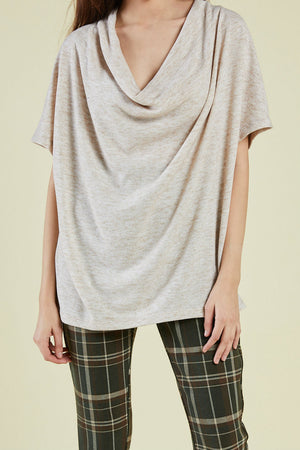 Sage the Label - Verona SS Top - Oatmeal - Front