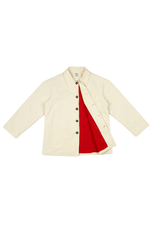 Rhythm - Chore Coat - White - Inside