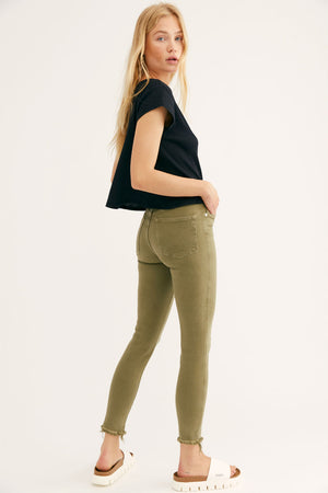 RAW HIGH RISE JEGGING - ARMY