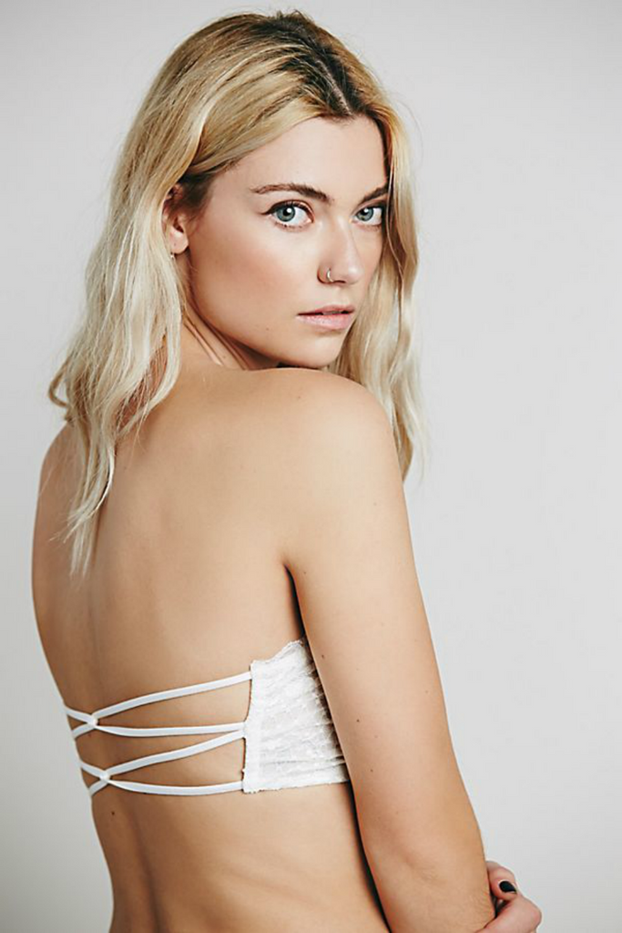 Free People - Bandeau Essential - White - Back