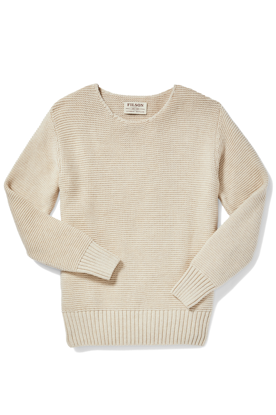 Filson - Lake Quinault Crewneck Sweater - Natural Heather - Front