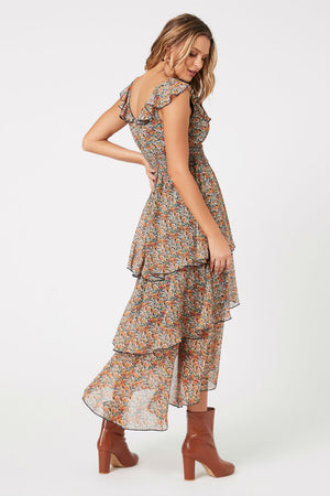 MinkPink - Fleetwood Floral Chiffon Dress - Multi - Back