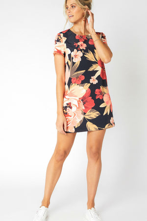 MinkPink - Annika Blooms Tee Dress - Multi - Front