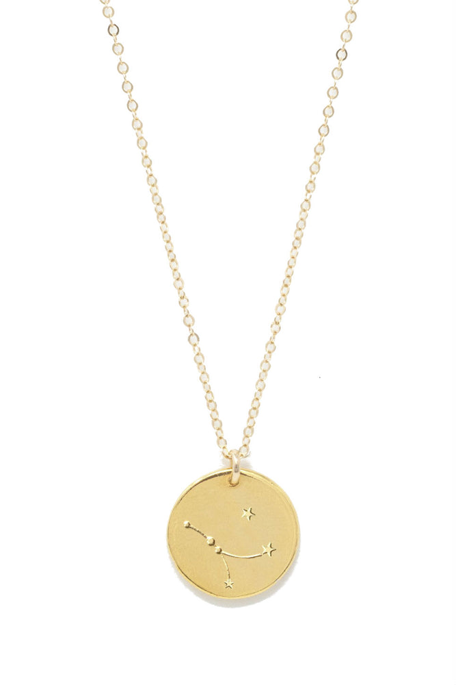 Able - Cancer Constellation Necklace - Gold