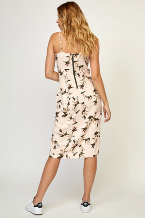 RVCA - Fancy That Floral Dress - Pumice Stone - Back
