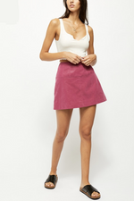 Free People - Days In The Sun Suede Skirt - Misty Plum