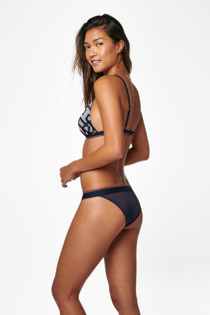 Stance - Bikini Sheer - Navy - Back