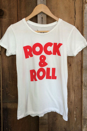 Bandit Brand - Rock & Roll Tee - White/Red