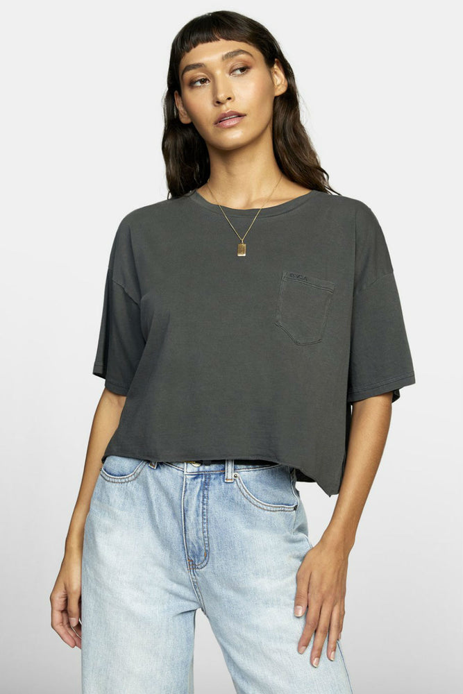 RVCA - PTC BF Crop Tee - Pirate Black - Front