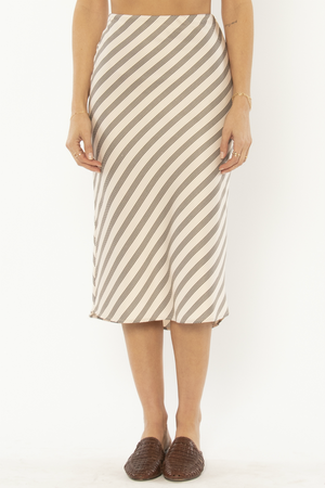 Amuse Society - Dani Woven Midi Skirt - Shell - Front