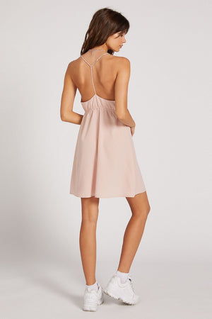 Volcom - Wrap Goddess Dress - Hazey Pink - Back