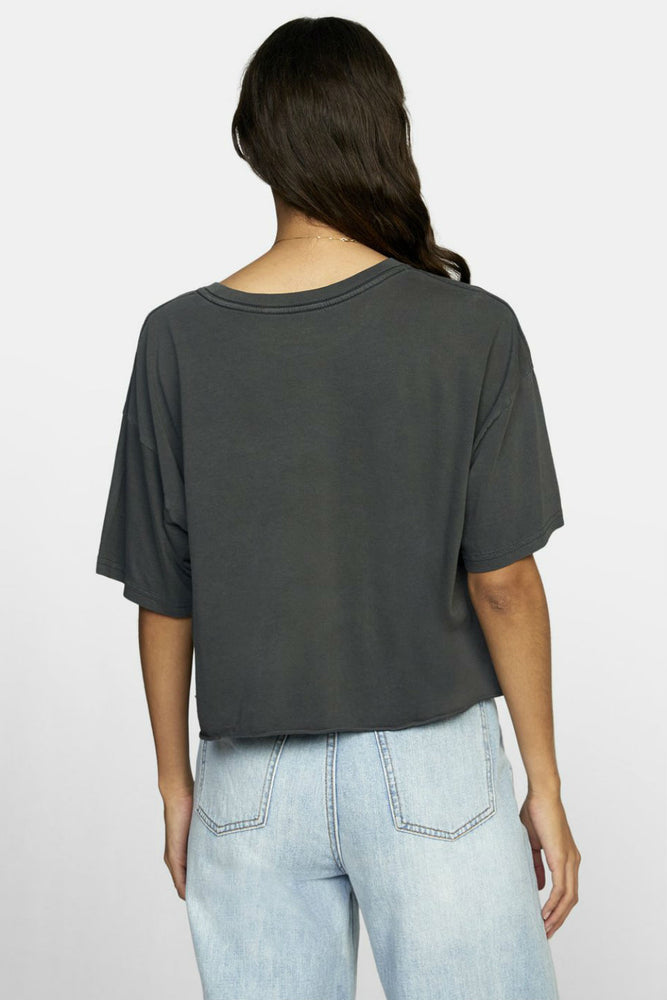 RVCA - PTC BF Crop Tee - Pirate Black - Back