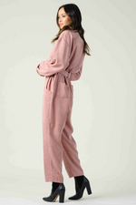 Lucca - Pinotage Jumpsuit - Dusty Pink