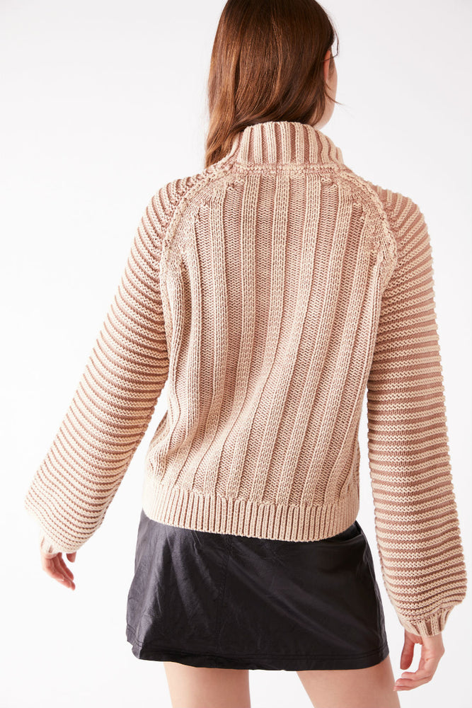 Free People - Sweetheart Sweater - Sand Castle - Back