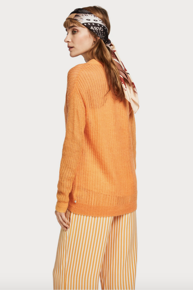 Scotch and Soda - Lightweight Cardigan - Amber - Back