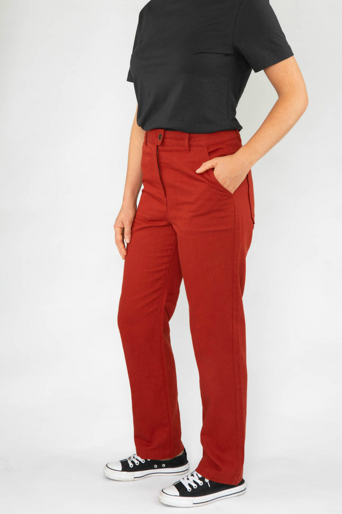 Roamers - Pacific Trouser - Clay Red - Front