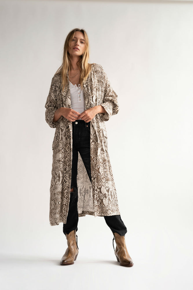 Free People - Wild Nights Duster - Grey Combo - Front