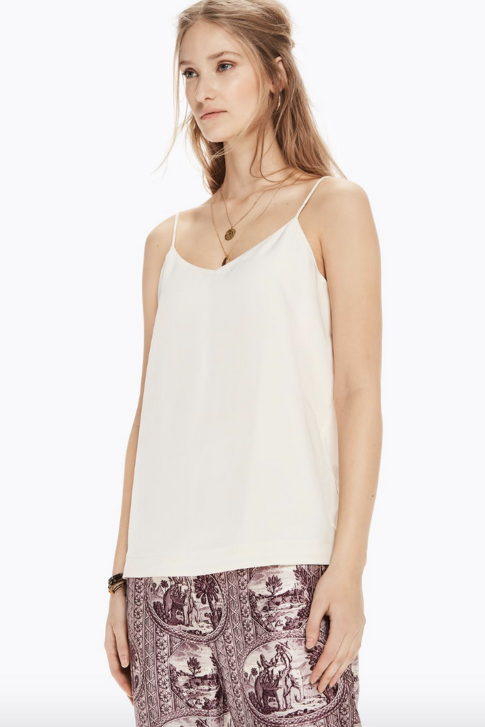 Scotch and Soda - Jersey Back Tank - Cream - Front