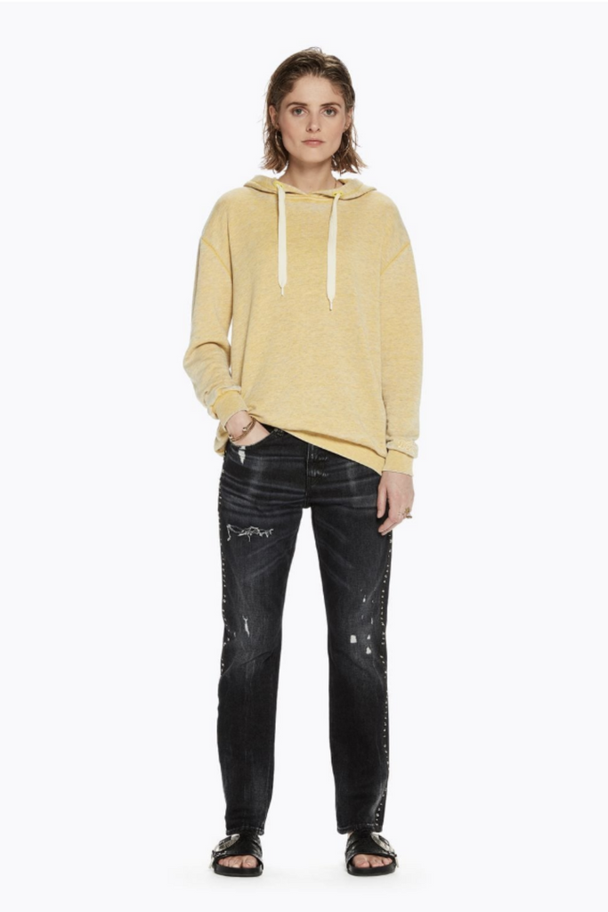 Scotch and Soda - Burn Out Hoody - Cheddar