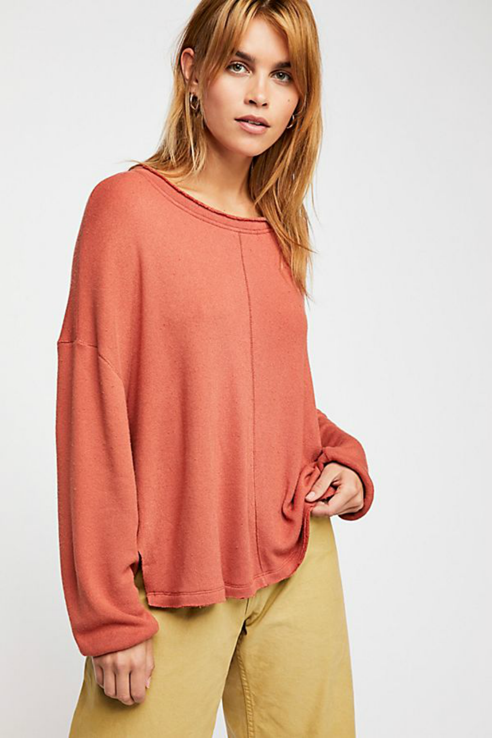 Free People - Be Good Terry Pullover - Mojave Sands - Front
