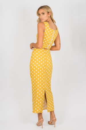 Toby Heart Ginger - Selena Skirt - Yellow Spot - Side