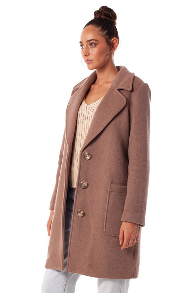 Rhythm - Chicago Coat - Latte - Back