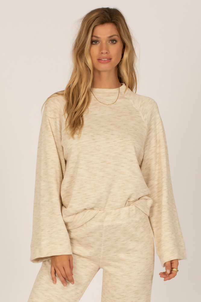 Amuse Society - Out Of Office Knit Fleece - Casa Blanca - Front