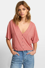 RVCA - Chalked Top - Pompei Red - Front