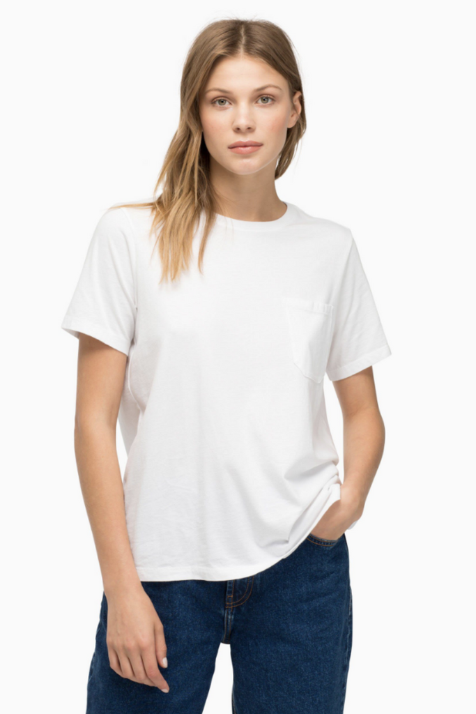 Richer Poorer - Pocket Tee - White - Front